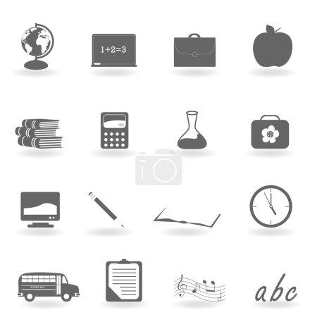 Ilustración de Volver a la escuela icono conjunto - Imagen libre de derechos