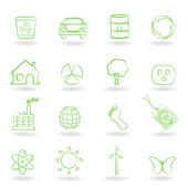 Eco and clean environment symbols