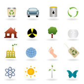 Ecology icons and symbols set