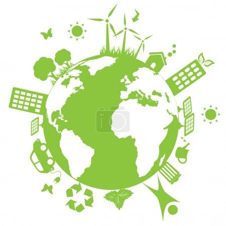Green environmental earth