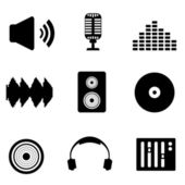 Audio music and sound icons