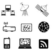 Communication technology and computer icon set