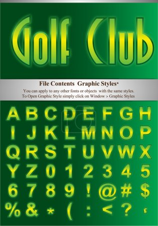 Green Letters with graphic style
