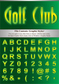 Green alphabet with simple stroke File Contents Graphic Styles You can apply to any other fonts or objects with the same styles
