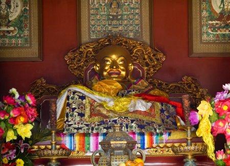 Laughing Buddha Details Yonghe Gong Buddhist Temple Beijing Chin