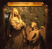 Bernini Statue Angel and Mary Santa Francesca Romana Basilica Fo