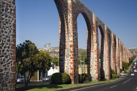 Ancient Aquaduct Queretaro Mexico