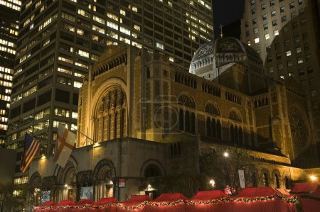 Saint Bartholomew's Episcopal Church New York City Nighttime Chr