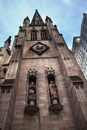 Matthew Mark Statues Trinity Church New York City Outside