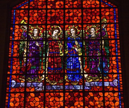 Colorful Angels with Musical Instruments