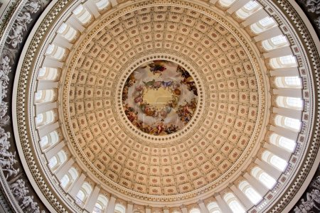 US Capitol Dome Rotunda Apothesis George Washington DC