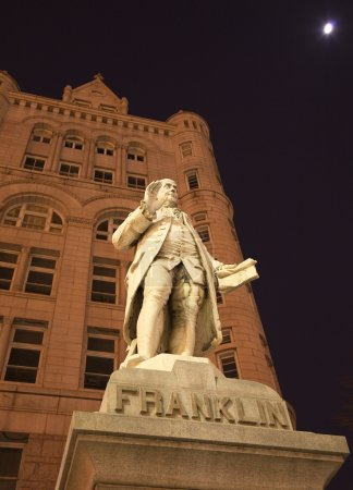 Benjamin Franklin Statue Old Post Office Building Washington DC