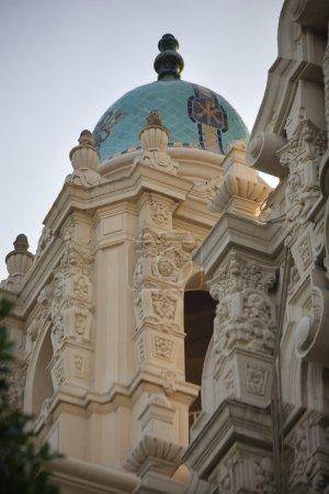 Photo pour Sculptures décorées Steeple Mission Dolores Saint Francis de Assis San Francisco Californie - image libre de droit