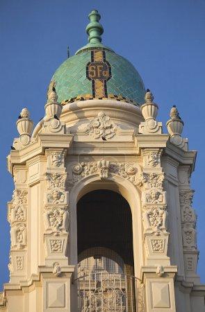 Photo pour Orné Steeple Mission Dolores Saint Francis De Assis Sculptures San Francisco Californie - image libre de droit
