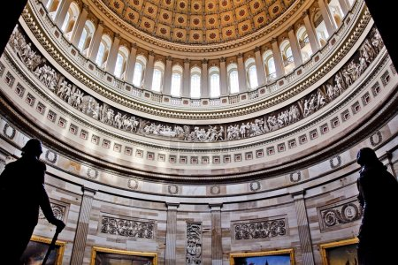 US Capitol Dome Rotunda Statues DC