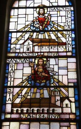 Photo pour Vitrail San Jose San Juan Mission Dolores Saint Francis De Assis San Francisco Californie - image libre de droit