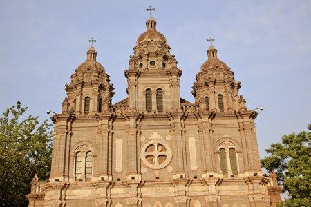 St. Joseph Church Wangfujing Cathedral Facade Basilica Beijing
