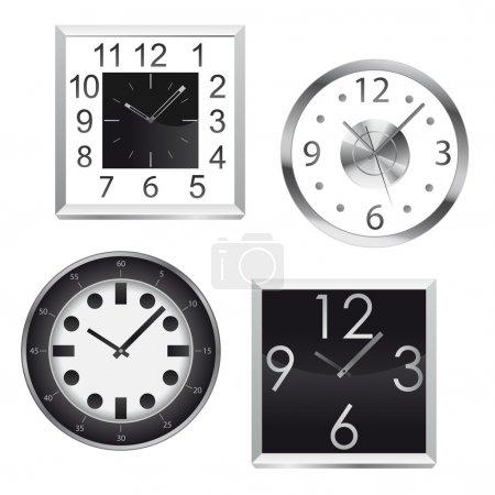 Metal wall clocks