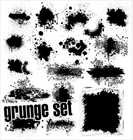 Illustration for Grunge Set - Royalty Free Image