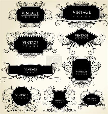 Illustration for Elegance vintage frames - Royalty Free Image