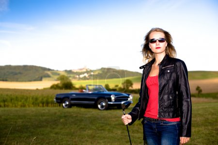 Golf Girl and a classic