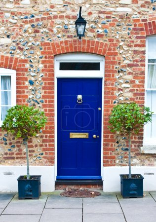 Photo for Nice blue front door - Royalty Free Image