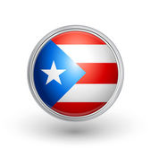 Puerto Rico flag button A fully scalable vector illustration