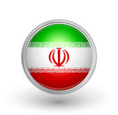 Iran flag button A fully scalable vector illustration