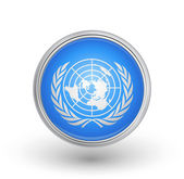 UN flag button A fully scalable vector illustration