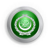 Glassy Web Button with the flag of Arab League