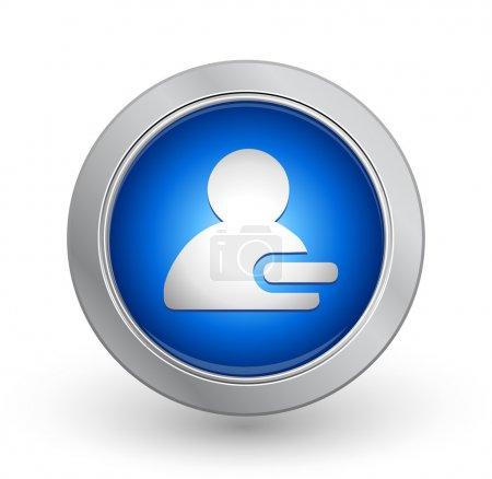 3D Blue Button - Delete Contact