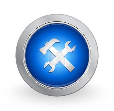 3D Blue Button - Tools