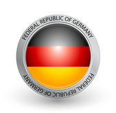 Vector illustration of a badge with the flag of Federal Republic of Germany