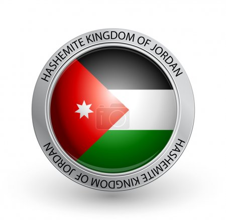 Badge - Flag of Hashemite Kingdom of Jordan