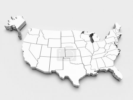 Photo for Map of USA. 3d - Royalty Free Image