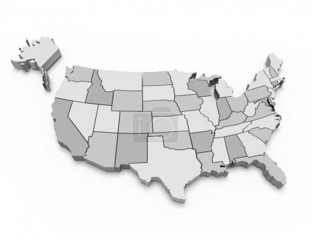 Photo for Gray map of USA. 3d - Royalty Free Image