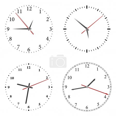 Illustration for Set of vector clock on white background - Royalty Free Image