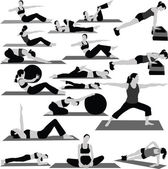 Woman fitness collection vector