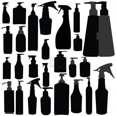 Bottles with pump - vectors