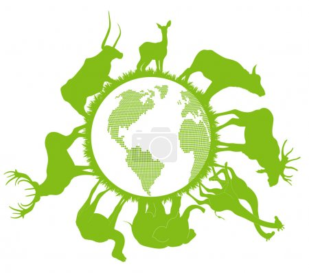 Animal planet vector background ecology concept