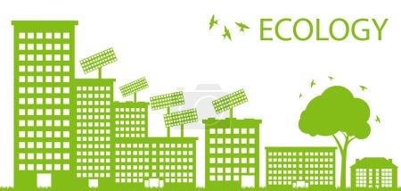 Wind alternative energy generator green vector background
