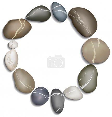 Fengshui, meditation, circle of twelve stones on a...