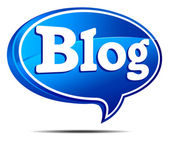 3D Blue Blog Speech Bubble All elements are grouped and on individual layers in the vector file for easy use