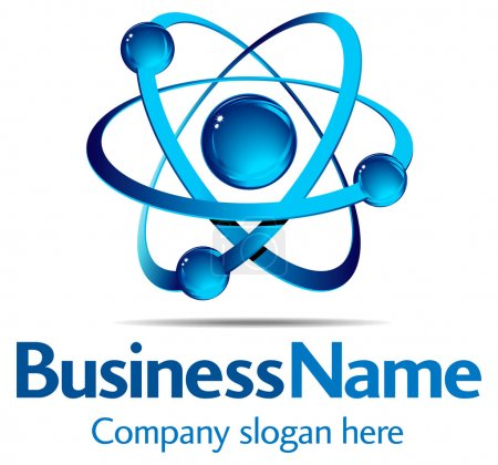 Illustration for Dynamic Business Logo on white background. All elements are grouped and on individual layers in the vector file for easy use. - Royalty Free Image