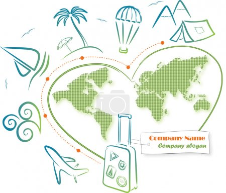 Travel around the world, vector illustration
