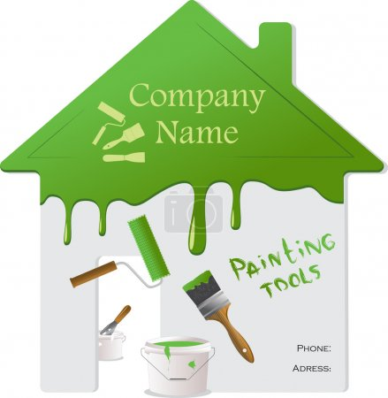 Home repair and painting tools, vector illustration