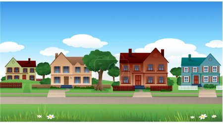 Photo for Suburb background nature house landscape - Royalty Free Image