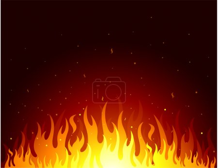 Illustration for Fire background - Royalty Free Image