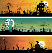 Creepy Halloween background illustration