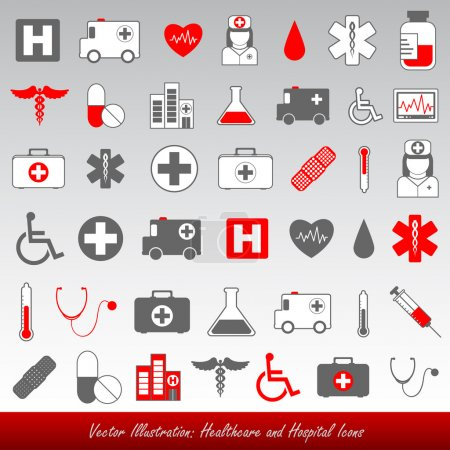 Illustration for Medical healthcare icons - Royalty Free Image